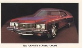Caprice Classic Coupe,  US postcard, standard size, 1973