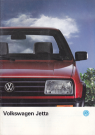 Jetta brochure, 28 pages,  A4-size, Dutch language, 08/1990 (+ specs. folder)