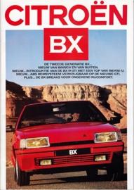 BX brochure (incl. GTi), 48 pages, 09/1986, Dutch language