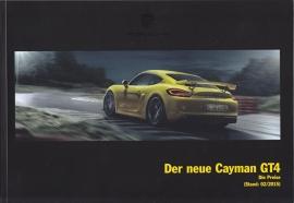 Cayman GT4 pricelist, 60 pages, 02/2015, German