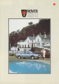 213 S Sedan brochure, 4 pages, A4-size, about 1986, Dutch language
