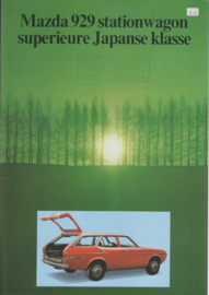 929 Station Wagon brochure, 4 pages, about 1974, Dutch language