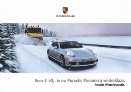 Panamera winter inspection folder, 4 pages, 2014/2015, Dutch