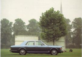 Mulsanne Turbo, DIN A6-size postcard, 1985, English language