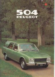 504 Break brochure, 12 pages, A4-size, 1979, Dutch language