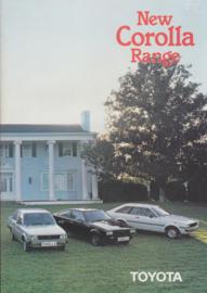 Corolla range brochure, 8 pages, UK, 6/1980, English language