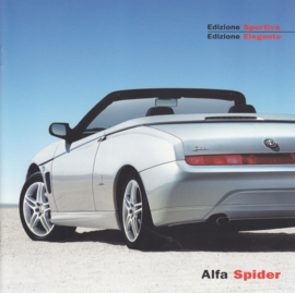 Spider Edizione Sportiva & Elegante brochure, 12 square pages, 2002, German language