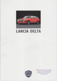 Delta brochure with Integrale, A4-size, 18 pages, 1/1988, German language