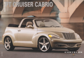 PT Cruiser Cabrio, A6-size postcard, about 2002, issue Chrysler France