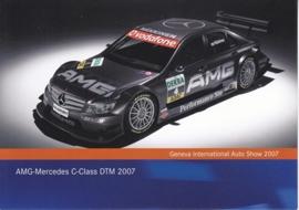 AMG-Mercedes C-Class DTM 2007, A6-size postcard, Geneva 2007