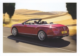Continental GT V8 S Convertible, A6-size postcard, about 2014, English