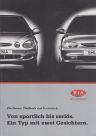 Shuma brochure, 12 pages + 6 page price list, 2000, German language