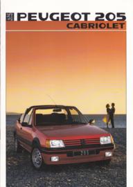 205 Cabriolet brochure, 14 pages, A4-size, 1986, German language