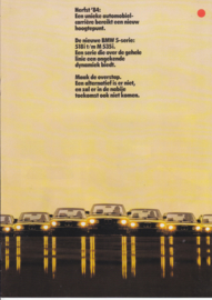 5-Series program brochure, 12 pages, Autumn 1984, Dutch language