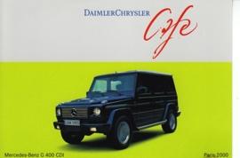 Mercedes-Benz G 400 CDI, A6-size postcard, Paris 2000