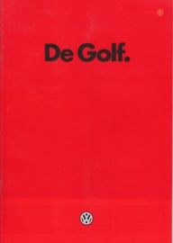 Golf brochure, 24 pages,  A4-size, Dutch language, 01/1985