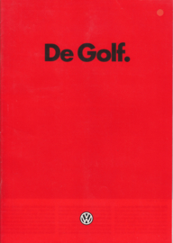 Golf brochure, 24 pages,  A4-size, Dutch language, 08/1984 (+ specs. folder)