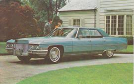 Hardtop Sedan de Ville, US postcard, standard size, 1971