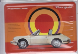 Porsche  911 Targa, metal postcard with white envelope, factory-issued