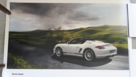 Boxster Spyder large original factory poster, published 12/2009