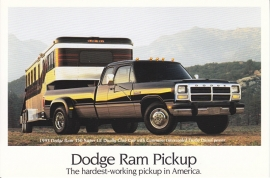 Ram Pickup, US postcard, continental size, 1993