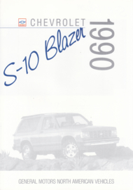S-10 Blazer brochure, 6 pages, export, 1990, Dutch/English language