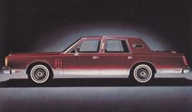 Continental Mark VI, US postcard, standard size, 1980