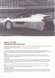 Jo-Car brochure, 1 page leaflet, Dutch language, about 1988