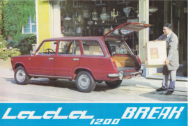 1200 Break leaflet, 2 pages, about 1975, French language (Belgium)