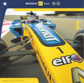 R26 Formula 1 team, square postcard, 2006