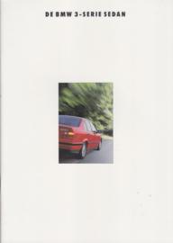3-Series Sedans brochure, 36 pages, A4-size, 2/1992, Dutch language