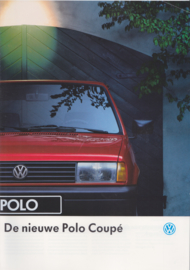 Polo Coupé brochure, A4-size, 20 pages, 08/1990, Dutch language