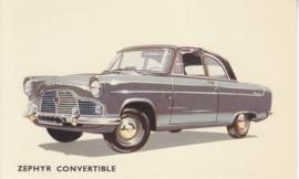Zephyr Convertible, standard size postcard, UK, EX/E7047/358