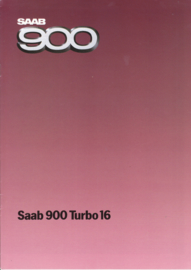 900 Turbo 16 brochure, 10 pages, 1985, Dutch language, # 218610