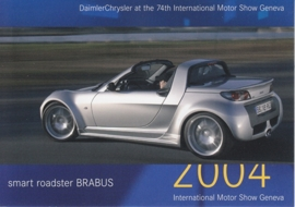 Smart Roadster Brabus, A6-size postcard, Geneva 2004