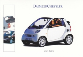Smart Fortwo Cabrio, A6-size postcard, IAA 1999, German