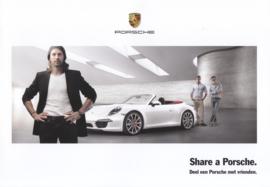 Share a Porsche brochure , 4 pages, 2016, Dutch language