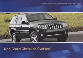 Jeep Grand Cherokee Overland, A6-size postcard, Geneva 2003