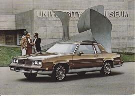 Cutlass Supreme Brougham, US postcard, continental size, 1983