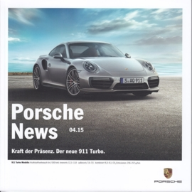 News 04/2015 with 911 Turbo, 46 pages, 11/2015, German language