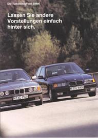3/5-Series Turbo Diesel brochure, 20 pages, A4-size, 1/1993, German language