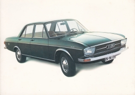 100 LS Sedan, DIN A6 postcard, German/English language, early 1970s