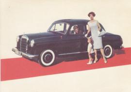 180 D Sedan, A6-size, German card with 4 languages, 1960