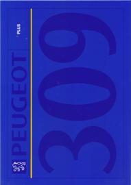 309 Plus  brochure, 4 pages, A4-size, 1992, Dutch language