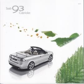 9-3 Cabriolet brochure, 52 pages, 2010, Dutch language, # 32015302