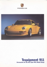 911 Tequipment (993) brochure, 24 pages, 08/2001, English