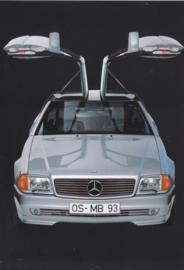 300 SL Gullwing by Karmann, A6-size postcard, 1993, German