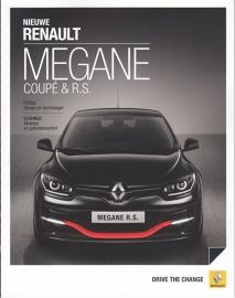Megane Coupé & R.S. brochure, 40 pages, 11/2013, Dutch language
