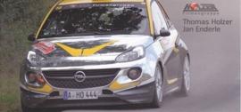 Adam R2 rallye car, larger postcard, drivers Holzer & Enderle, 2015, German
