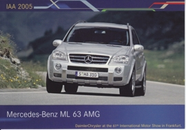 Mercedes-Benz ML 63 AMG, A6-size postcard, IAA 2005